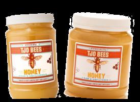 100 pure raw chunk honey comb in jar of raw honey 1 lb - 275×200